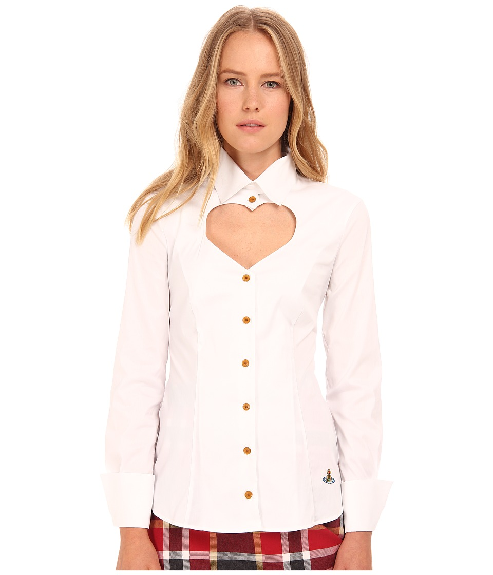 Vivienne Westwood Red Label - Classic Poplin Love Shirt (White) Women's Clothing