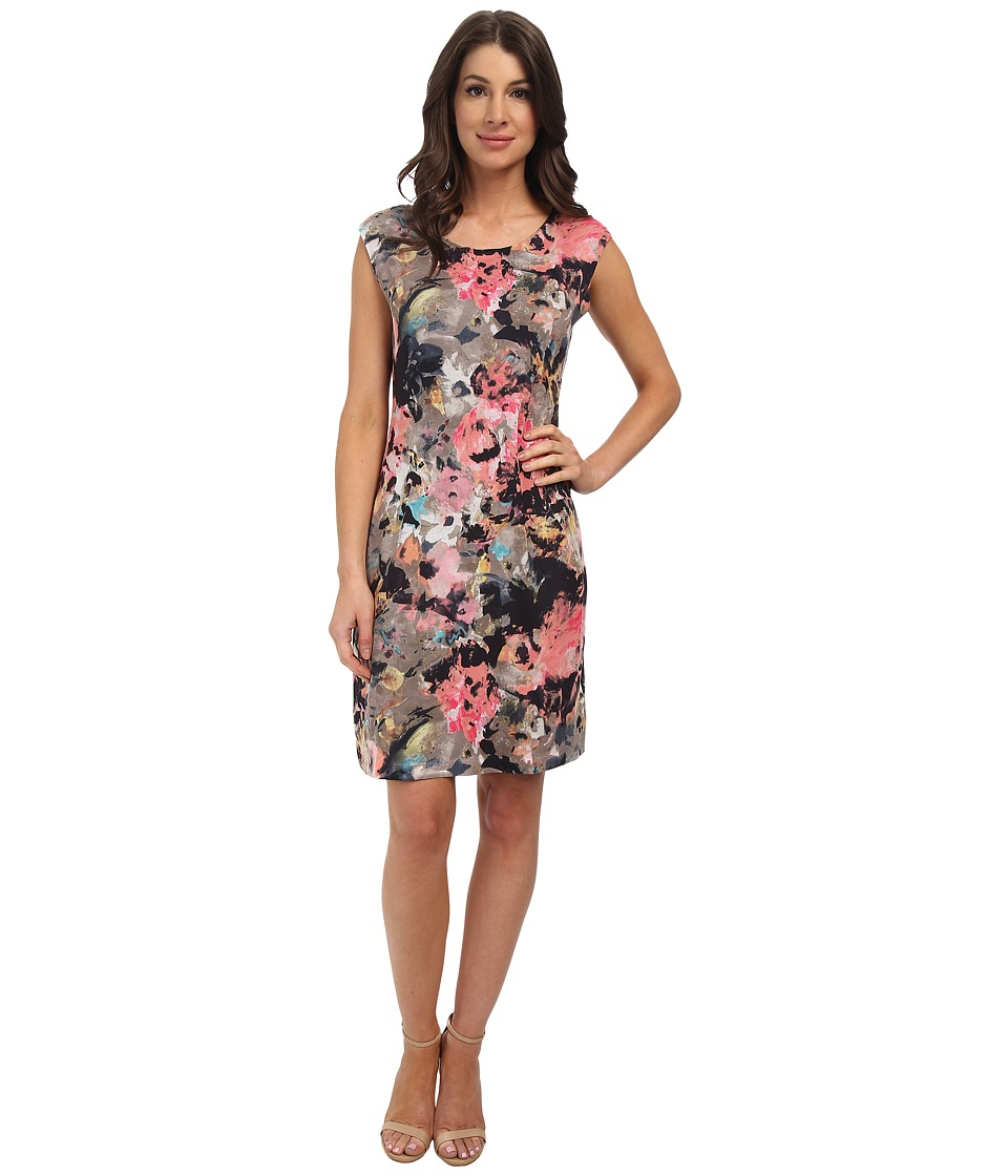 Nally & Millie - Floral Cap Sleeve Reversible Dress (Multi) Women's Dress