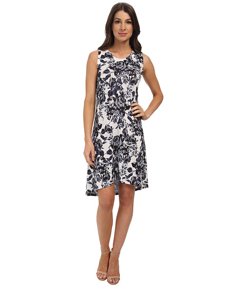 Nally & Millie - Floral Dress (Black/White) Women's Dress
