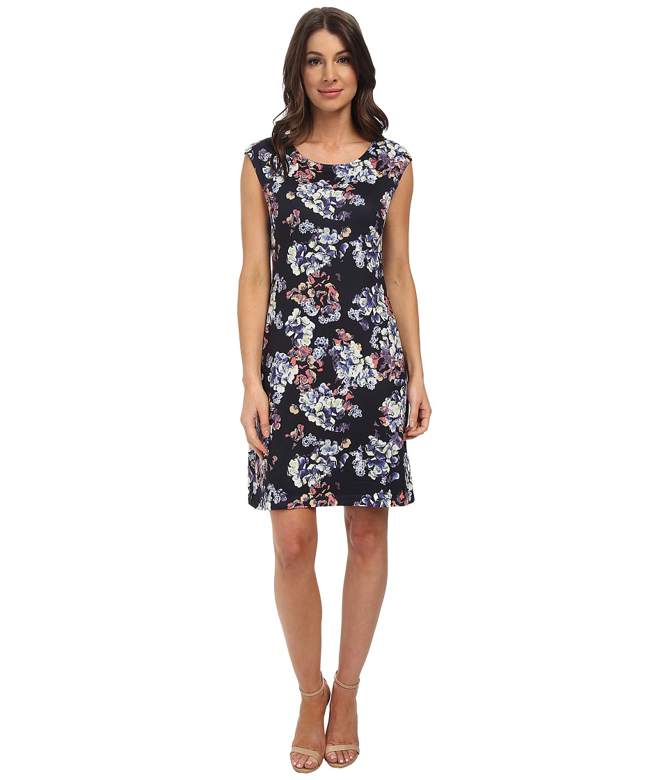 Nally & Millie - Floral Cap Sleeve Reversible Dress (Multi) Women