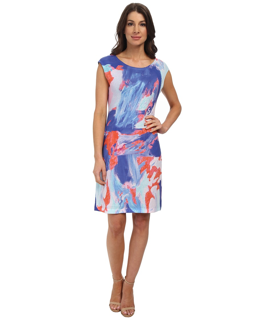 Nally & Millie - Coral Handpainted Reversible Dress (Coral) Women's Dress