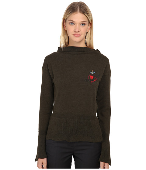 Vivienne Westwood Red Label - Basic Knitwear Classic Sweater (Military Green) Women's Sweater