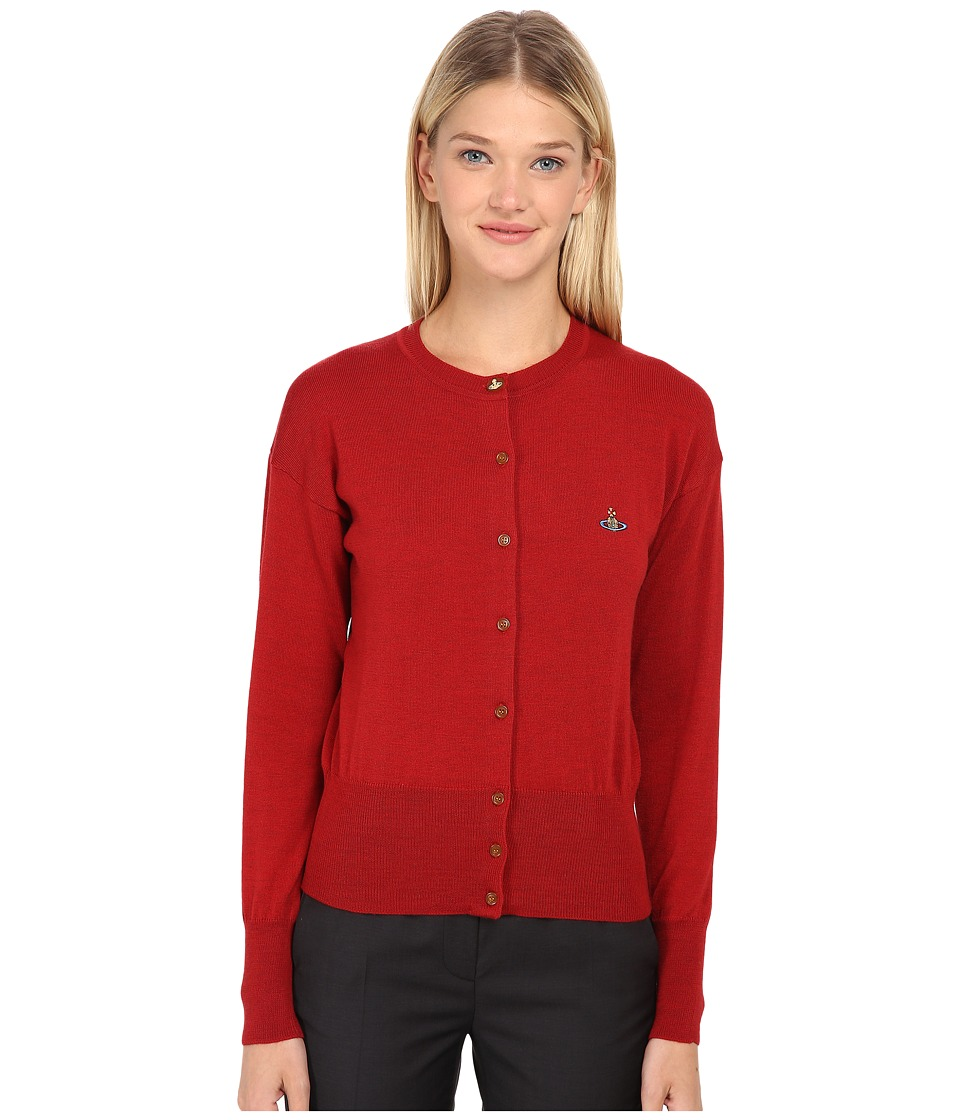Vivienne Westwood Red Label - Basic Knitwear Classic Original Cardigan (Red) Women