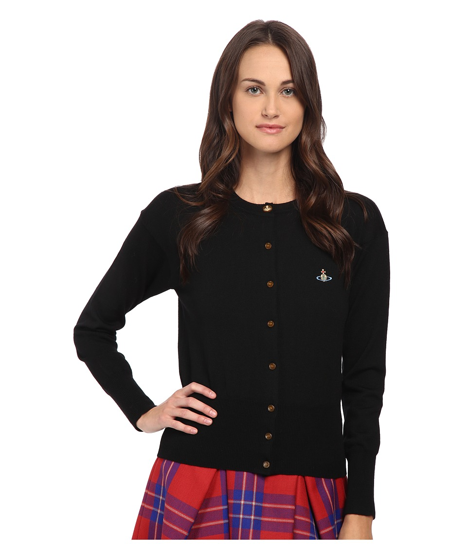 Vivienne Westwood Red Label - Basic Knitwear Classic Original Cardigan (Black) Women's Sweater