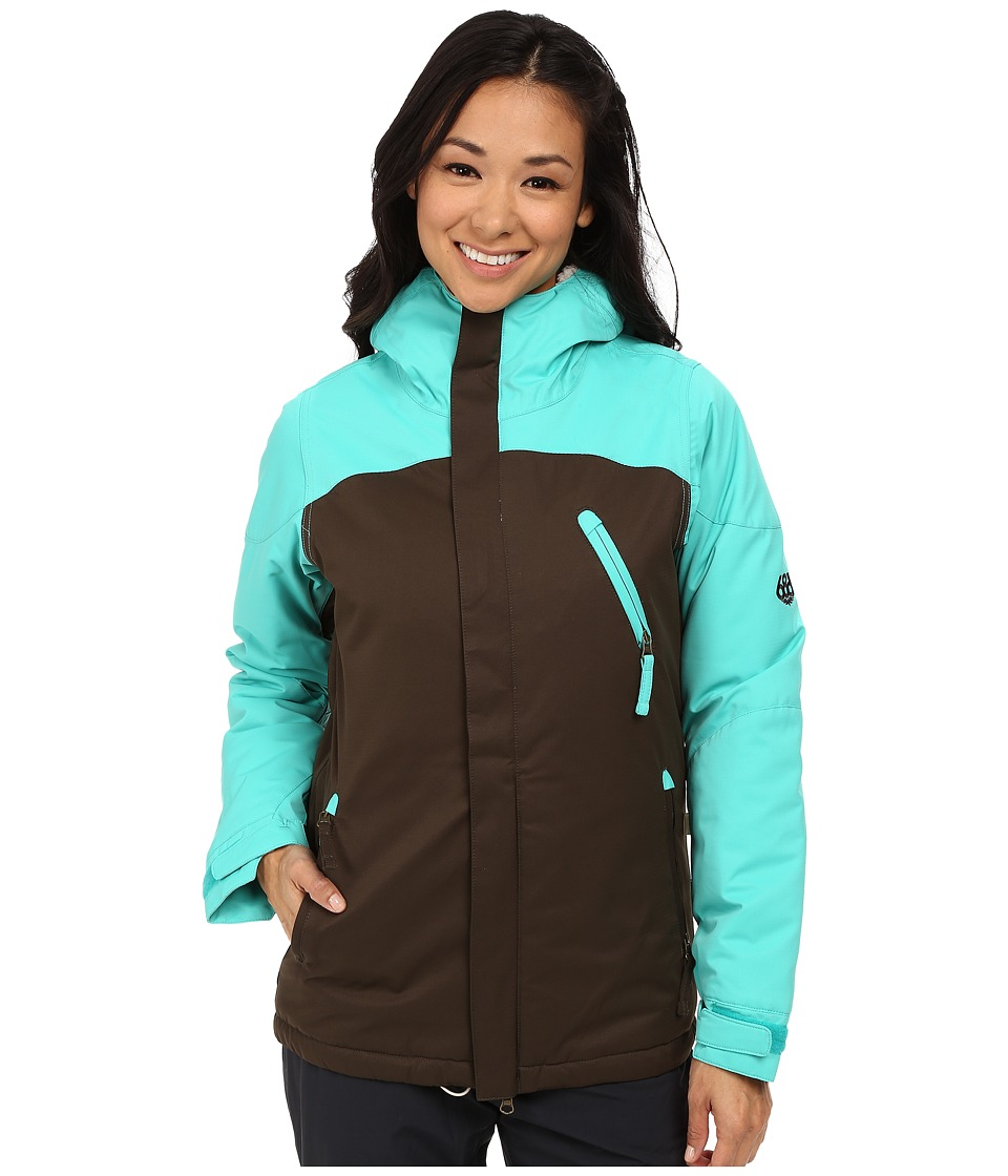 686 - Authentic Festival Insulated Jacket (Coffee Diamond Dobby) Women