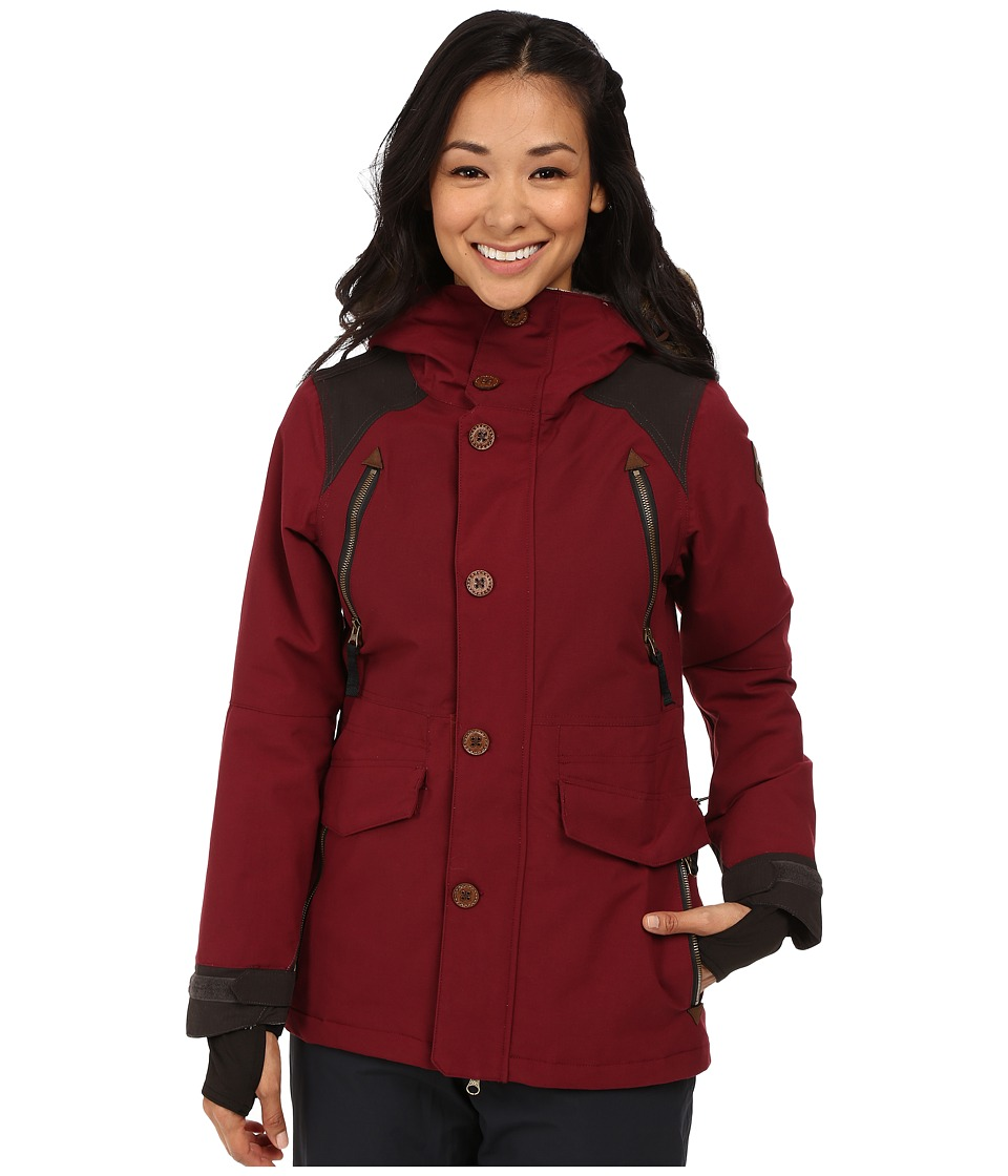 686 - Parklan Ceremony Insulated Jacket (Wine Peached Canvas) Women's Coat