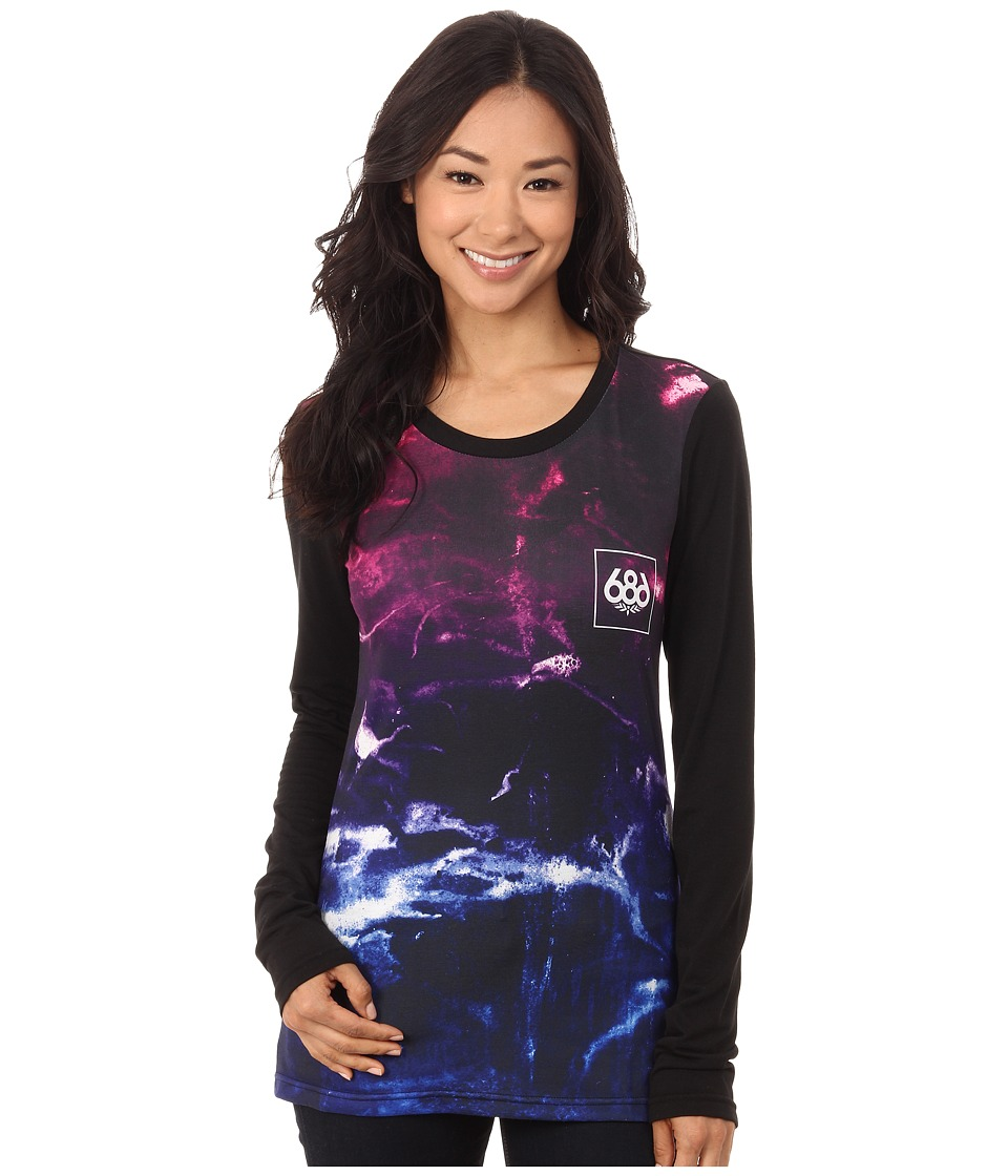 686 - Tech Long Sleeve Shirt (Marble Fade) Women's Clothing