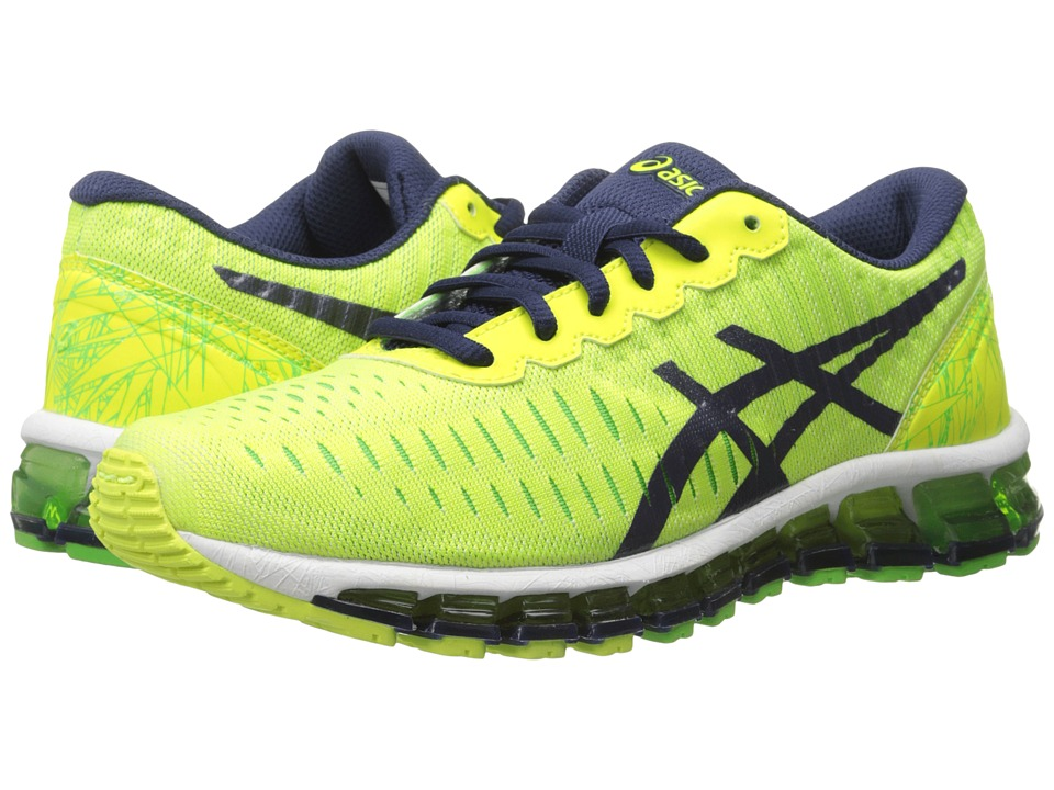 ASICS Kids - Gel-Quantum 360 GS (Little Kid/Big Kid) (Flash Yellow/Indigo Blue/Green) Boys Shoes