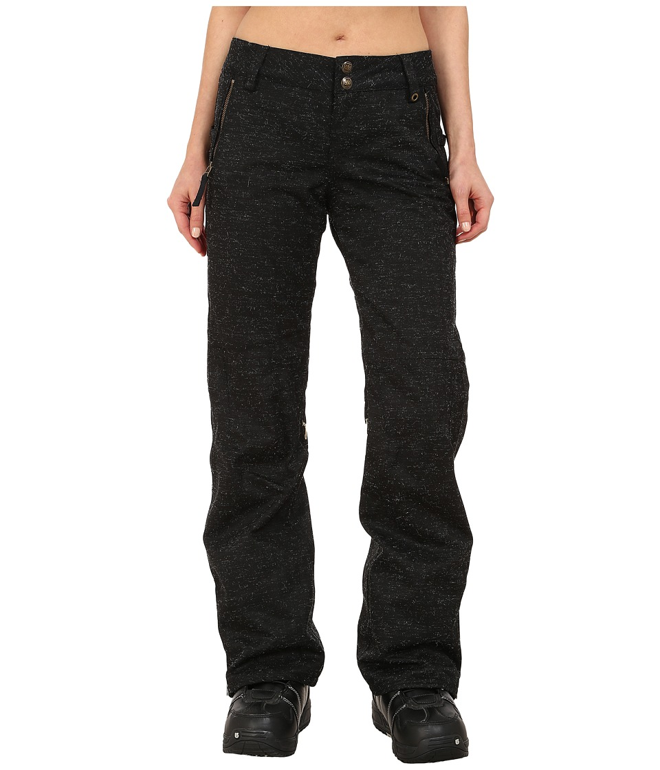 686 - Parklan After Dark Pants (Black Wool Like Denim) Women's Casual Pants