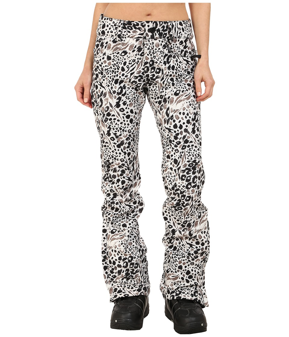 686 - Authentic Gossip Softshell Pants (Grey Animal Print) Women's Casual Pants