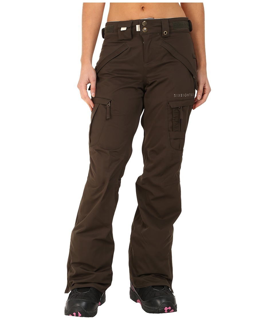 686 - Authentic Smarty Cargo Pant (Coffee Diamond Dobby) Women's Outerwear