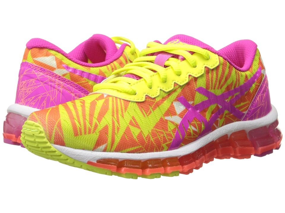 ASICS Kids - Gel-Quantum 360 GS (Little Kid/Big Kid) (Flash Coral/Pink Glow/Flash Yellow) Girls Shoes