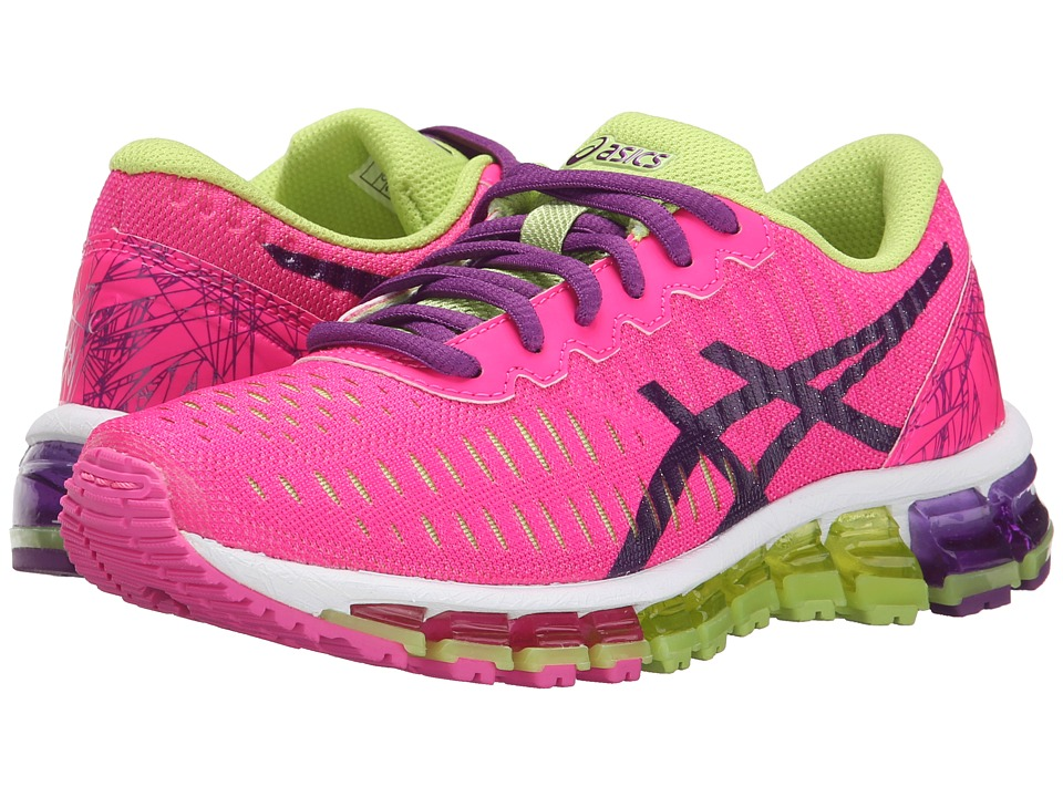 ASICS Kids - Gel-Quantum 360 GS (Little Kid/Big Kid) (Hot Pink/White/Sharp Green) Girls Shoes