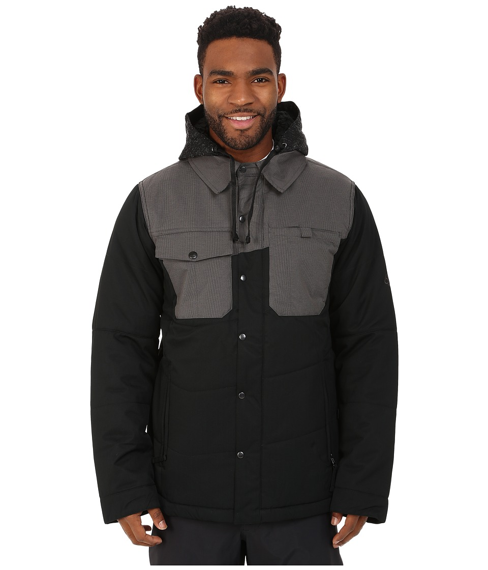 686 - Authentic Woodland Insulated Jacket (Black Herringbone) Men's Coat