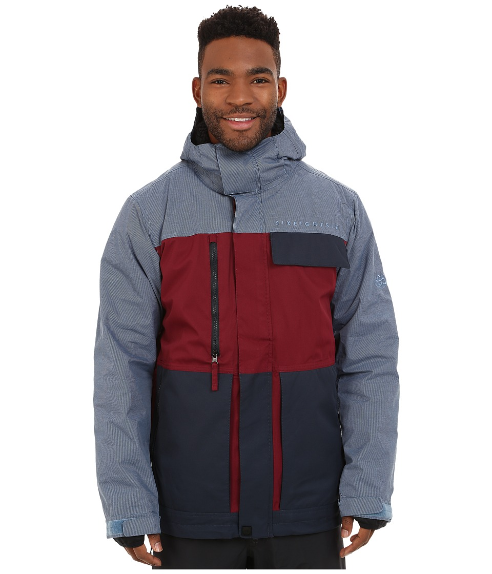 686 - Authentic Smarty Form Jacket (Wine Color Block) Men's Coat