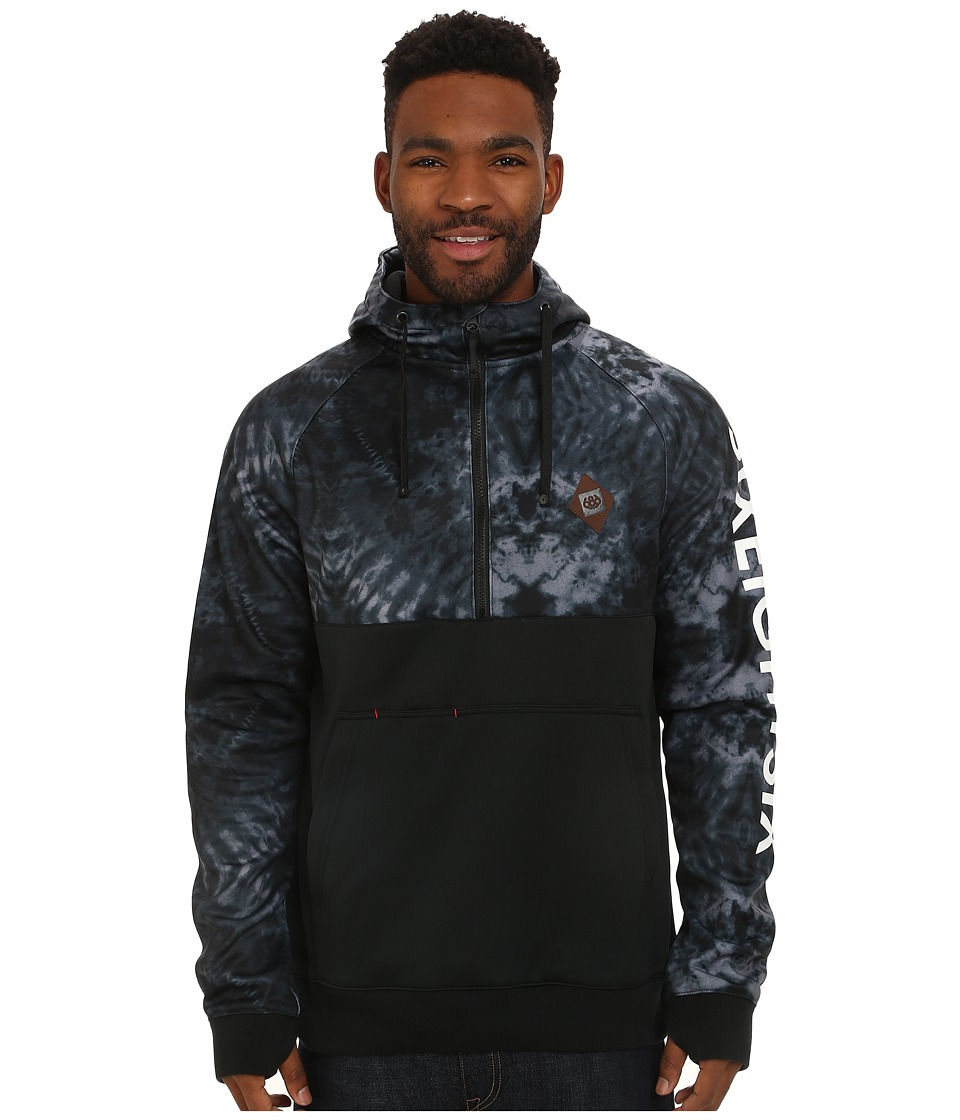 686 - Virtue Bonded Fleece Anorak (Gunmetal Tie-Dye) Men
