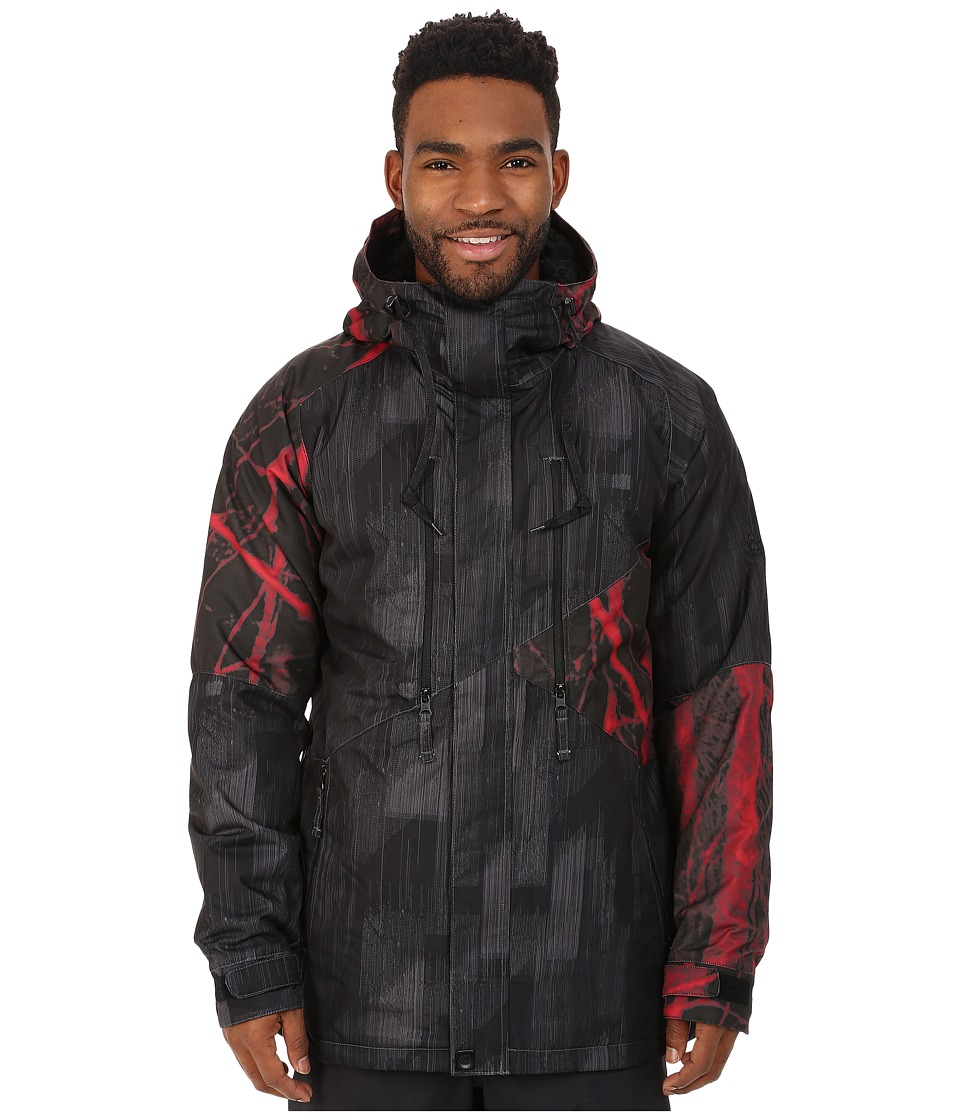 686 - Authentic Arcade Insulated Jacket (Black Digi Stripe) Men's Coat