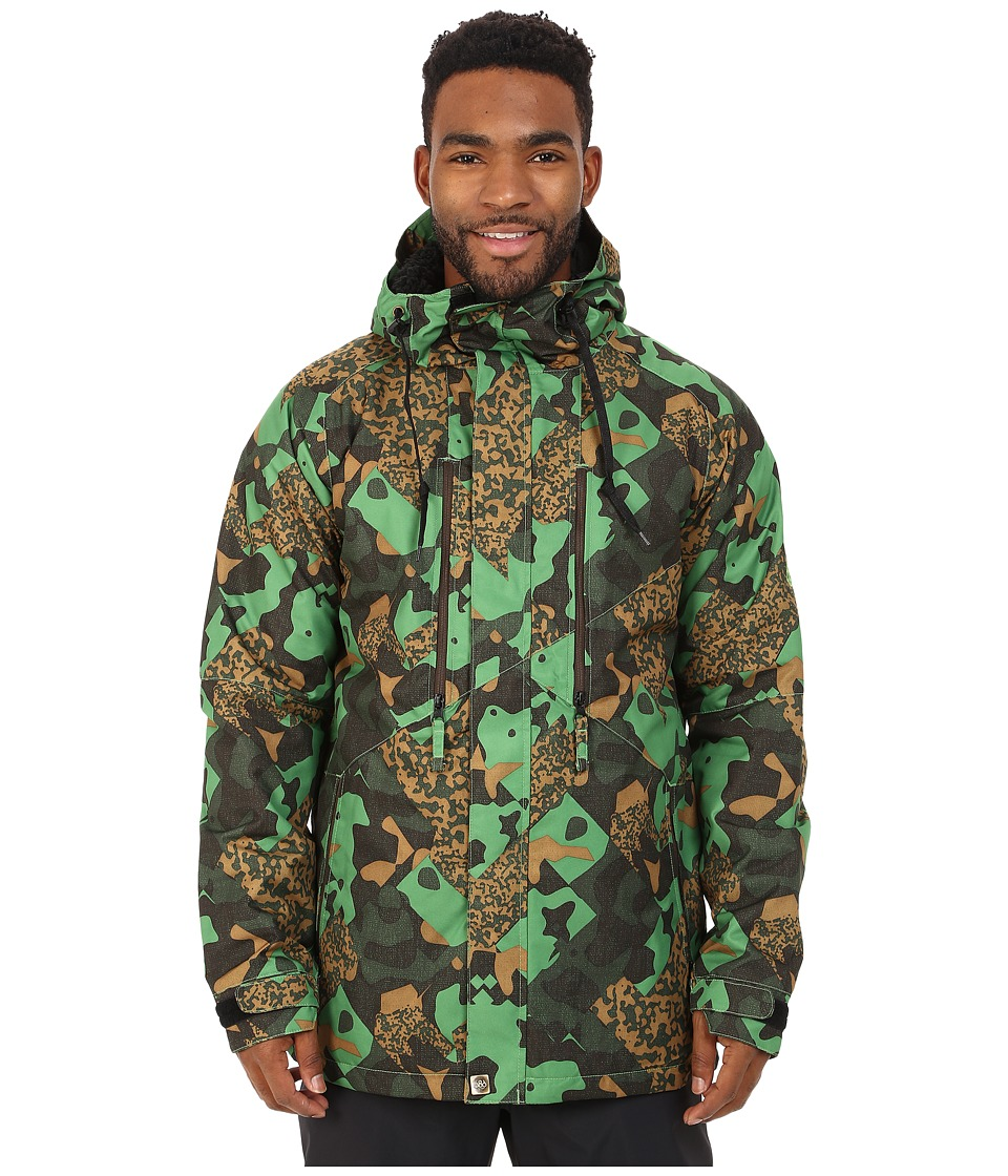 686 - Authentic Arcade Insulated Jacket (Green Cubist Camo) Men