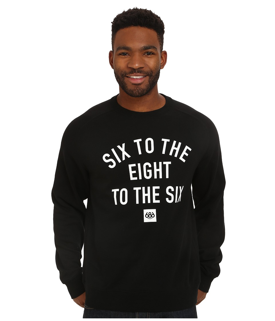 686 - Words Crew Neck Sweatshirt (Black) Men