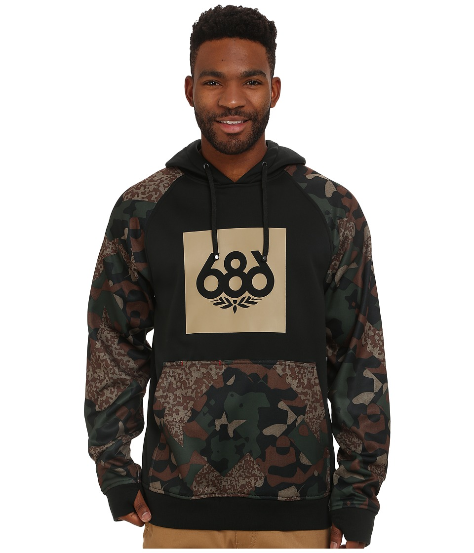 686 - Knockout Bonded Fleece Pullover (Hunter Cubist Camo) Men's Fleece