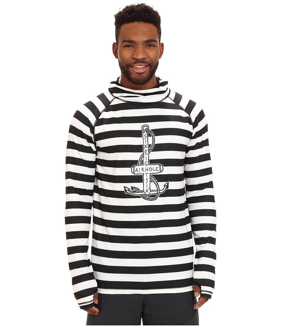 686 - Airhole Thermal Balaclava Top (Jailbird Stripe) Men's Clothing