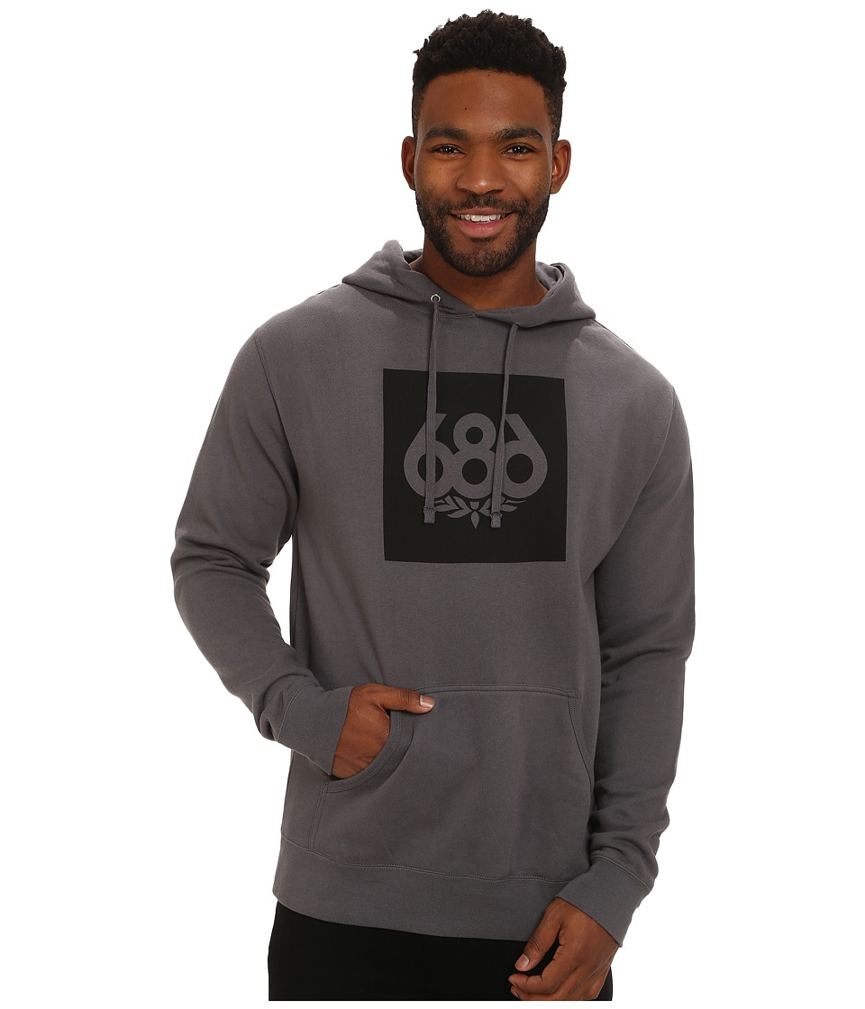 686 - Knockout Pullover Hoodie (Charcoal) Men