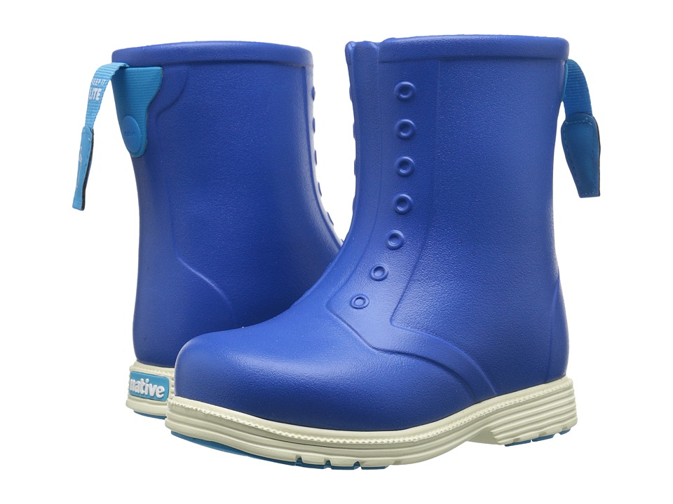 Native Kids Shoes - Sid Boot (Toddler/Little Kid) (Victoria Blue/Bone White) Kids Shoes