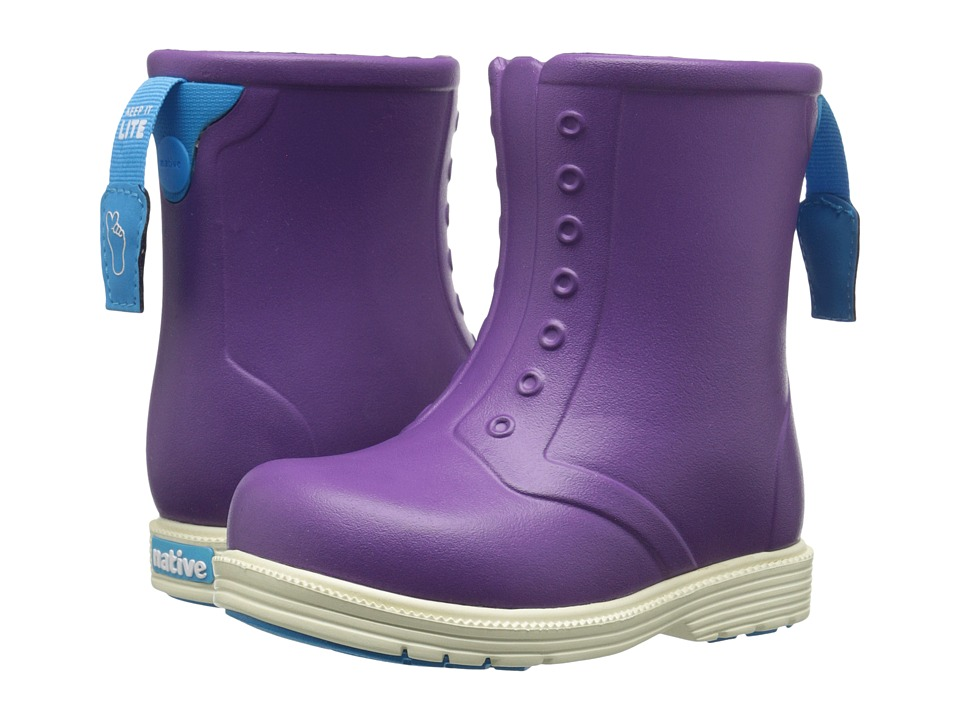 Native Kids Shoes - Sid Boot (Toddler/Little Kid) (Orchid Purple/Bone White) Girls Shoes