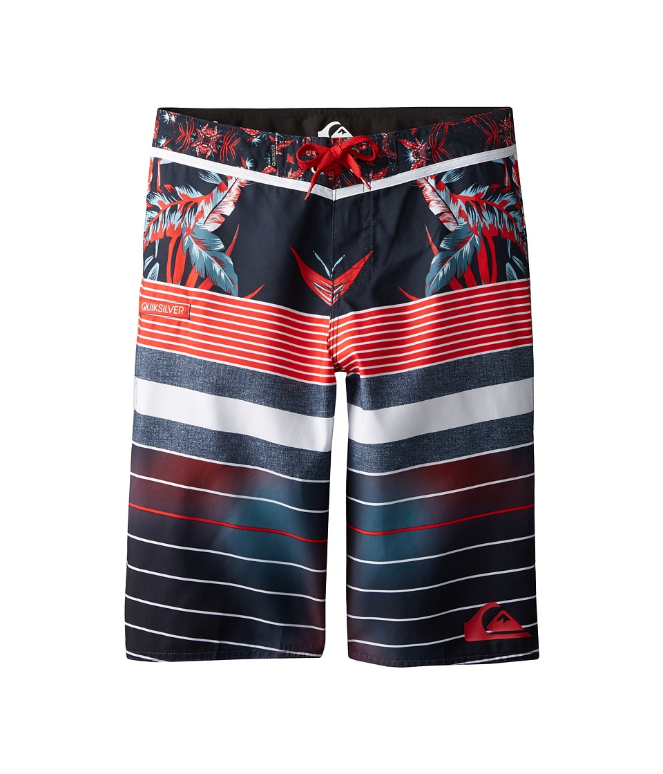 Quiksilver Kids - YG Remix Stripe (Big Kids) (Navy Blazer) Boy's Swimwear