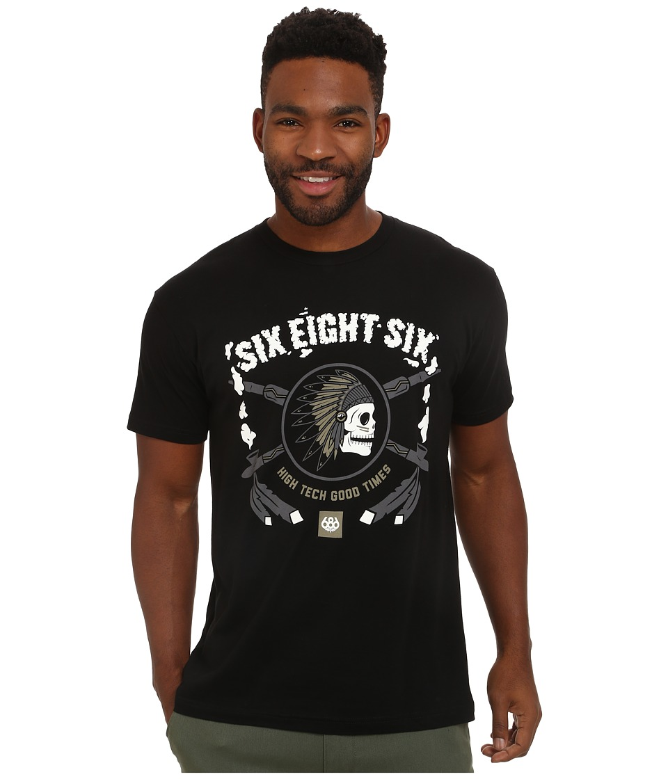 686 - Spirit Short Sleeve T-Shirt (Black) Men's T Shirt