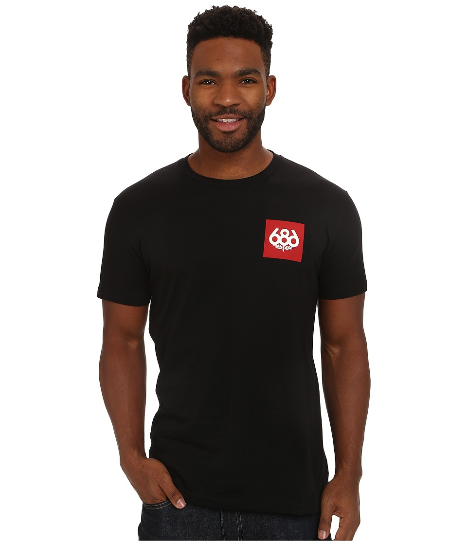 686 - Knockout Short Sleeve T-Shirt (Black) Men