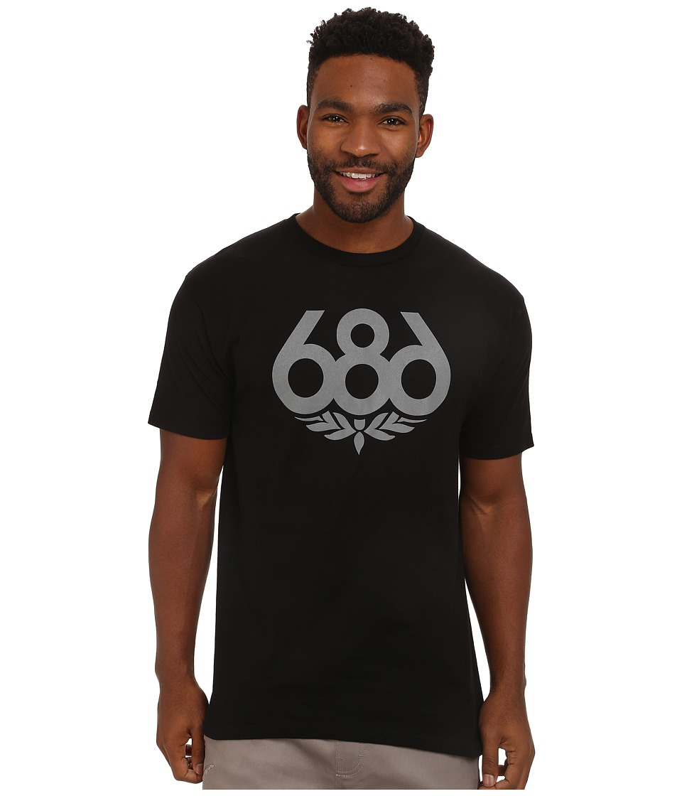 686 - Wreath S/S T-Shirt (Black 1) Men's Short Sleeve Pullover