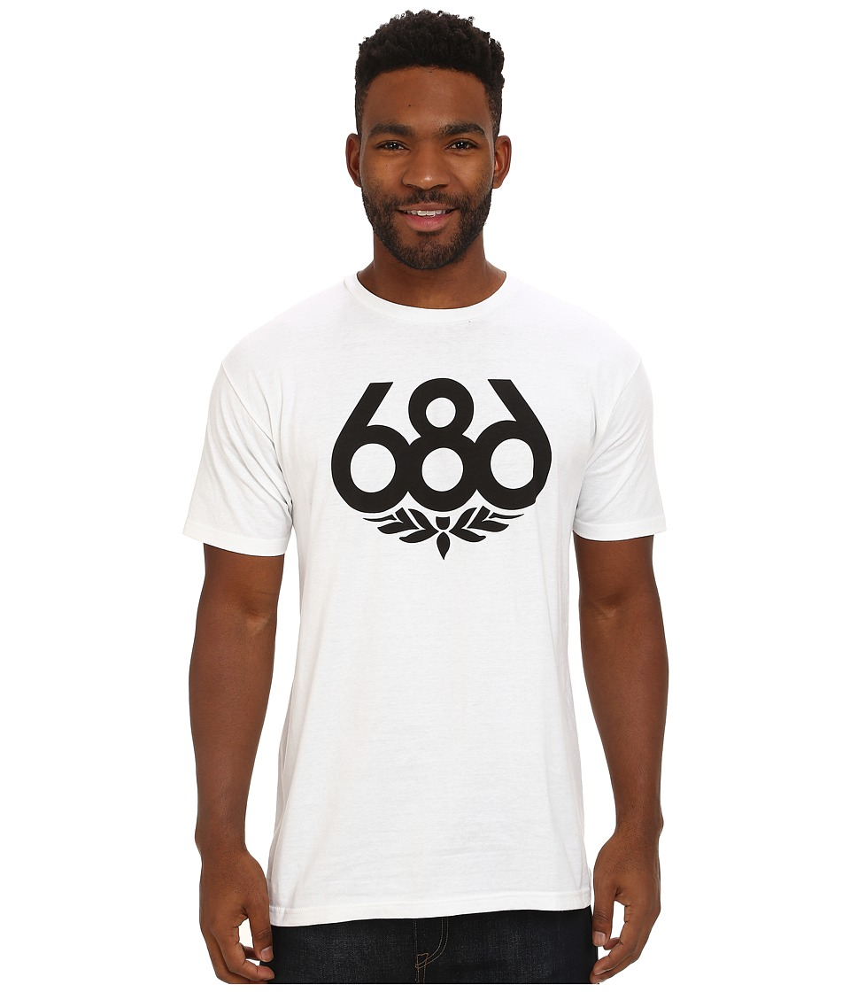 686 - Wreath S/S T-Shirt (White 1) Men's Short Sleeve Pullover