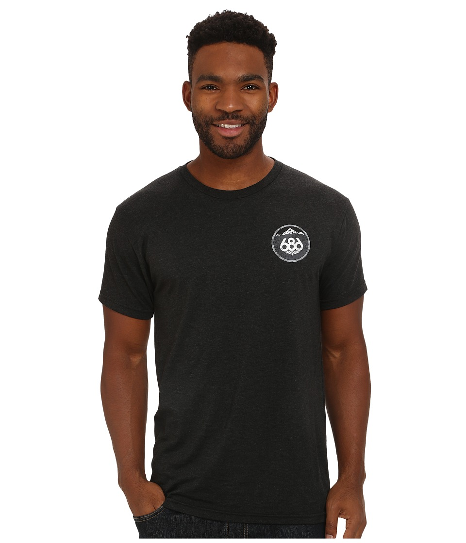 686 - Escape Short Sleeve T-Shirt (Vintage Black) Men's T Shirt