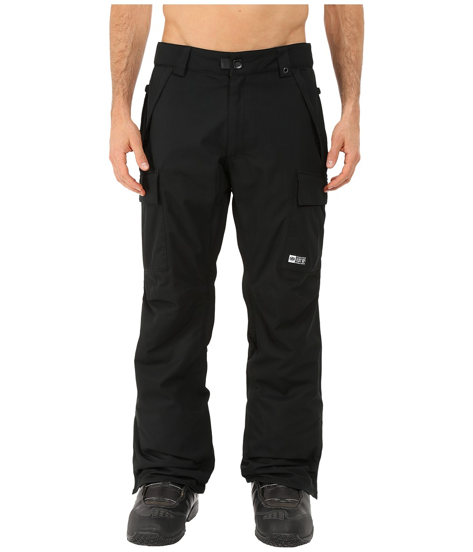 686 - Authentic Infinity Insulated Cargo Pants (Black Herringbone) Men's Casual Pants