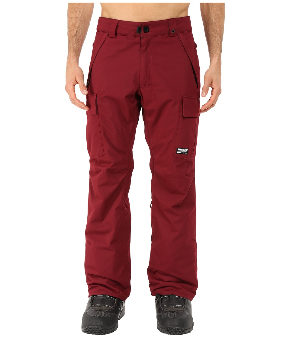 686 - Authentic Infinity Insulated Cargo Pants (Wine Herringbone) Men's Casual Pants