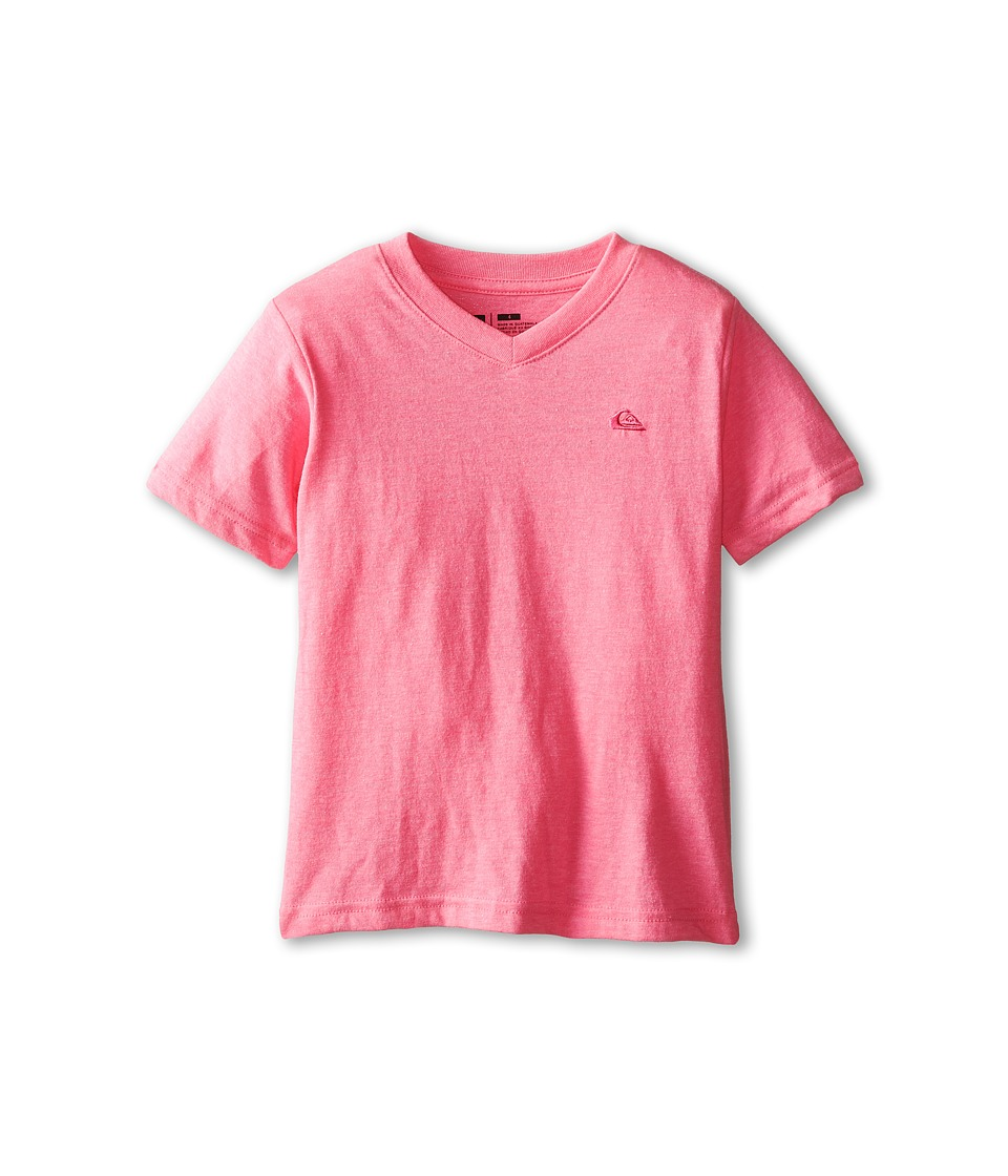 Quiksilver Kids - Daily Tee (Toddler/Little Kids) (Hot Pink Heather) Boy's T Shirt