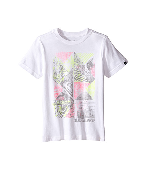 Quiksilver Kids - Blender (Toddler/Little Kids) (White) Boy's T Shirt