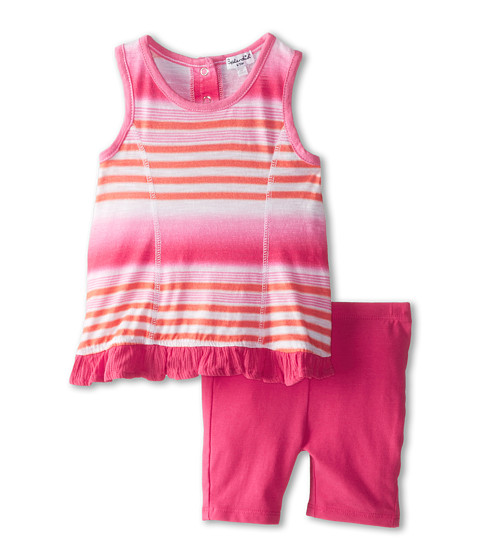 Splendid Littles - Ombre Printed Shorts Set (Infant) (Hot Pink) Girl