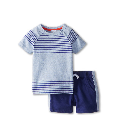 Splendid Littles - Printed Stripe Raglan Set (Infant) (Light Blue) Boy