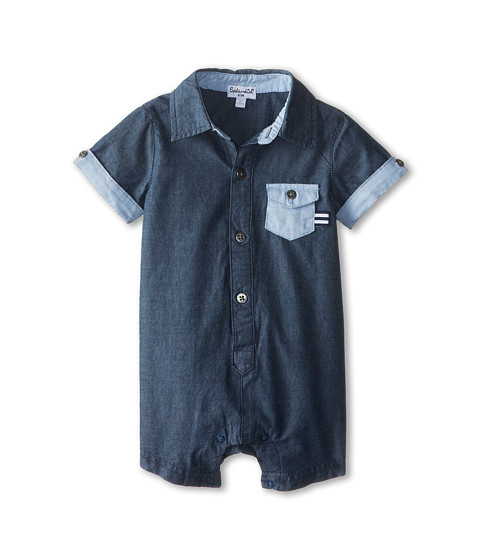 Splendid Littles - Oxford Chambray Romper (Infant) (Chambray 2) Boy's Jumpsuit & Rompers One Piece