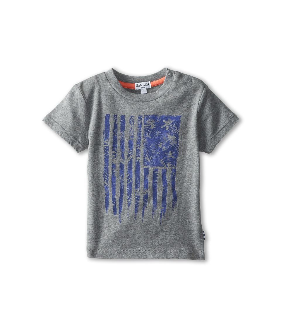Splendid Littles - Graphic Logo Tee (Infant) (Grey) Boy's T Shirt