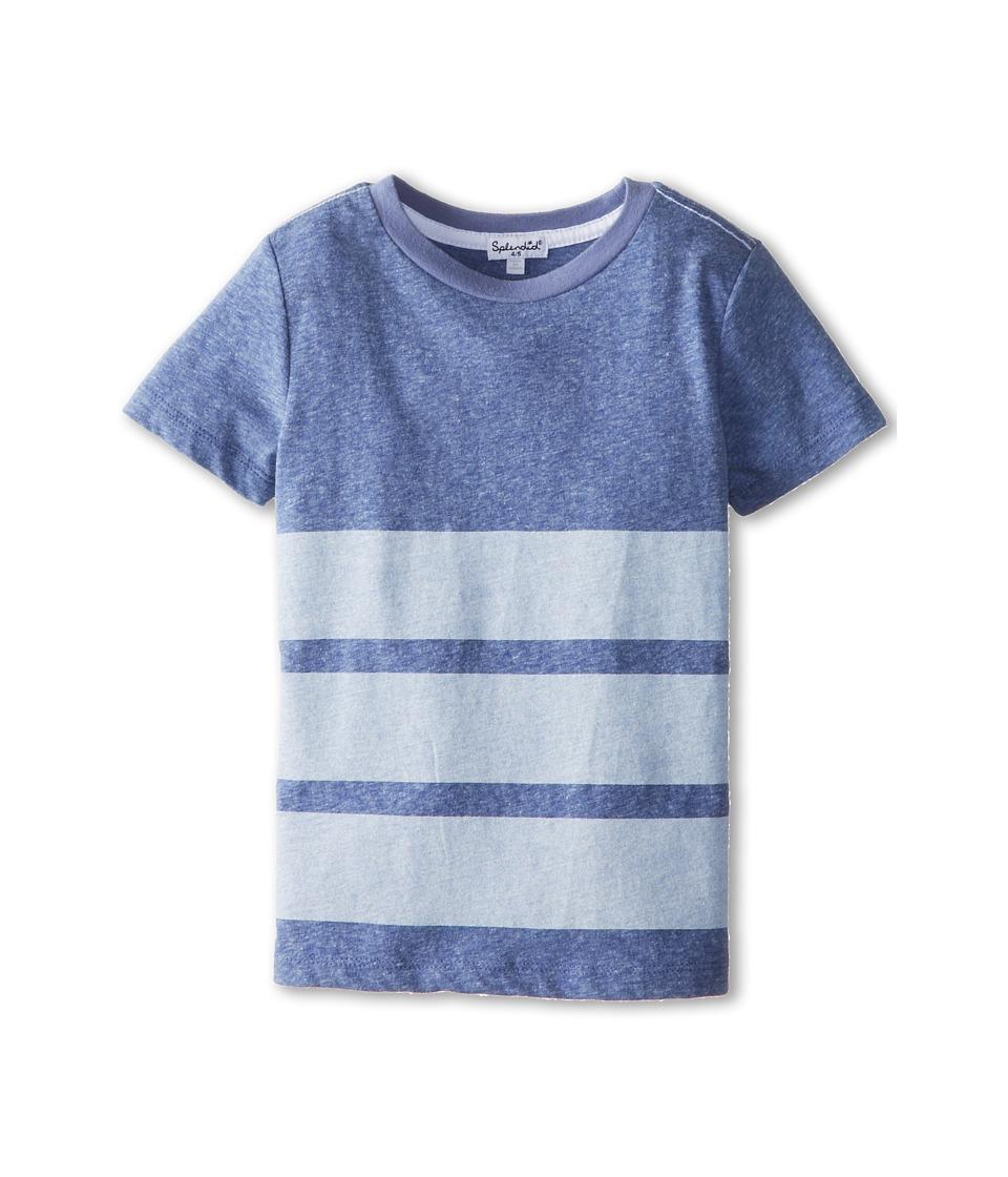 Splendid Littles - Triblend Short Sleeve Tee (Little Kids) (Royal Blue) Boy's T Shirt