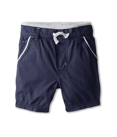 Splendid Littles - Poplin Pull On Shorts (Toddler) (Navy) Boy