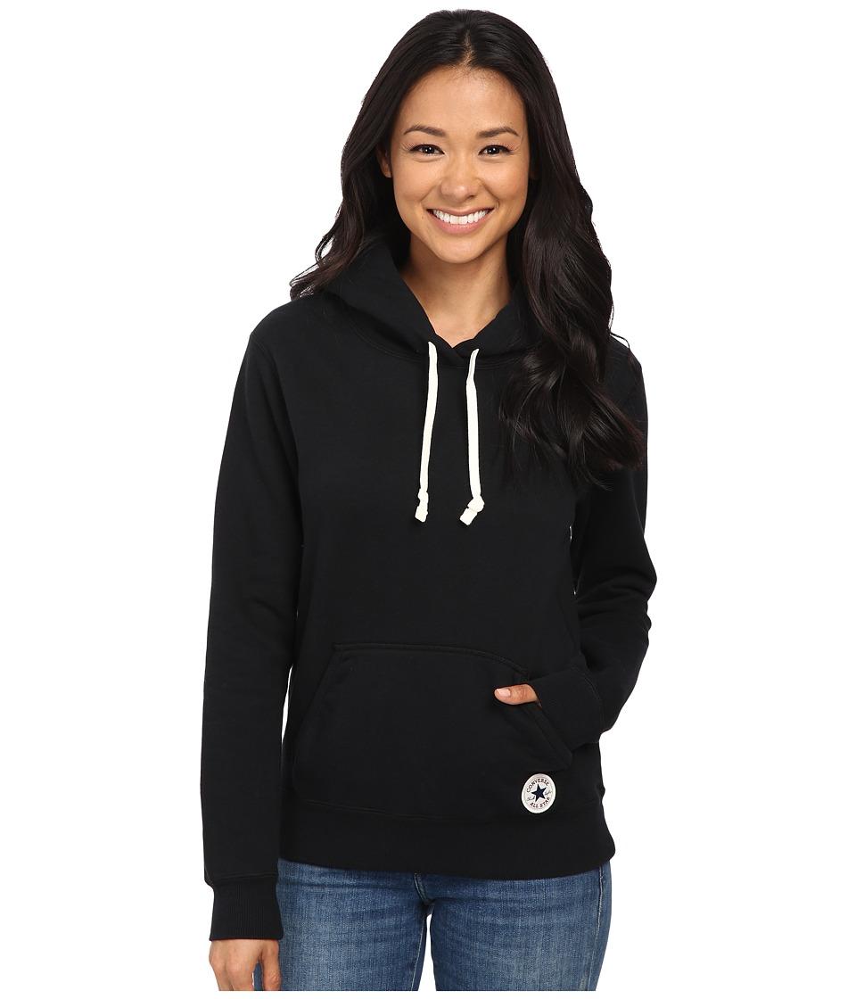 Converse - Core Popover Hoodie (Black) Women's Sweatshirt