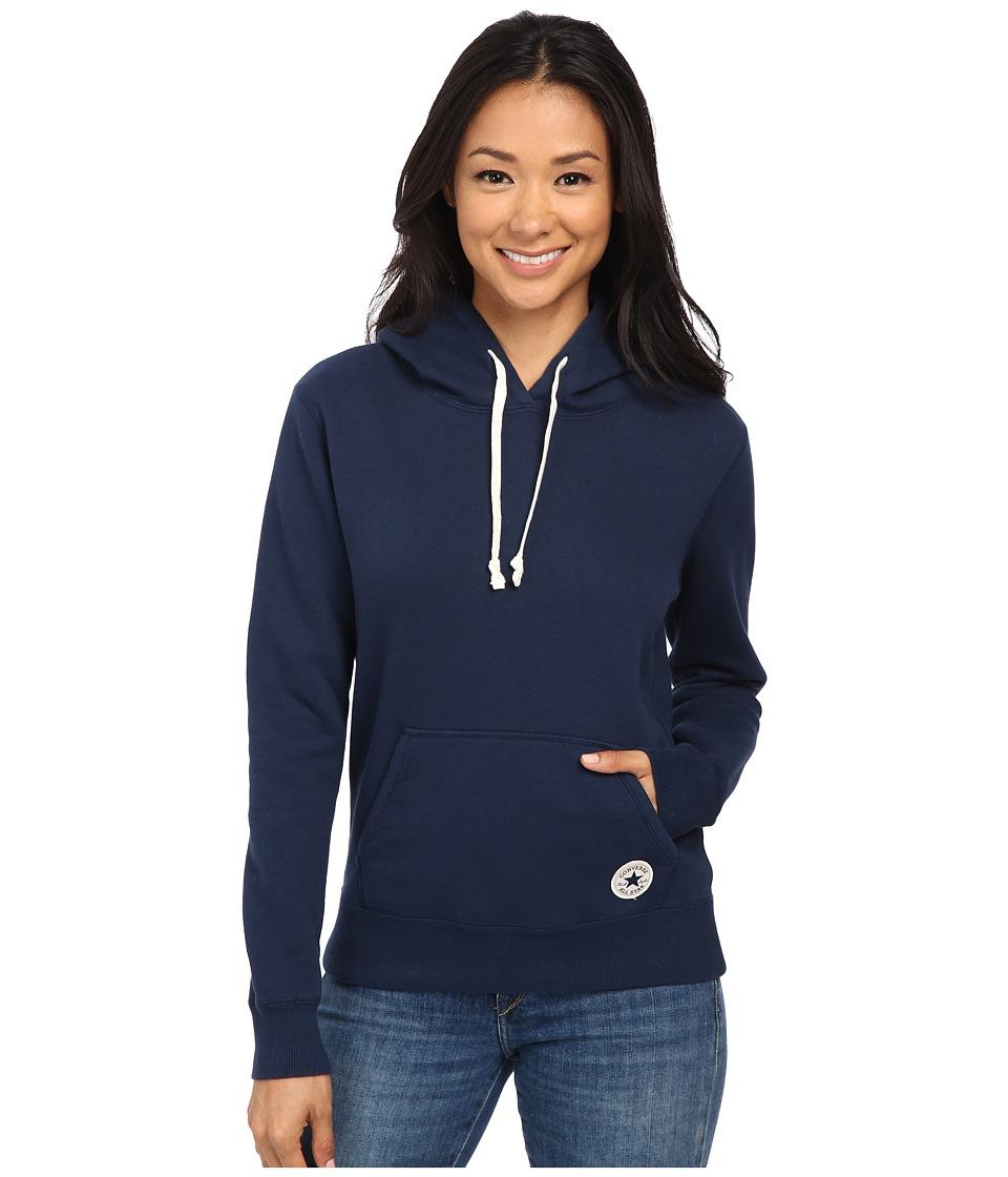 Converse - Core Popover Hoodie (Navy) Women's Sweatshirt