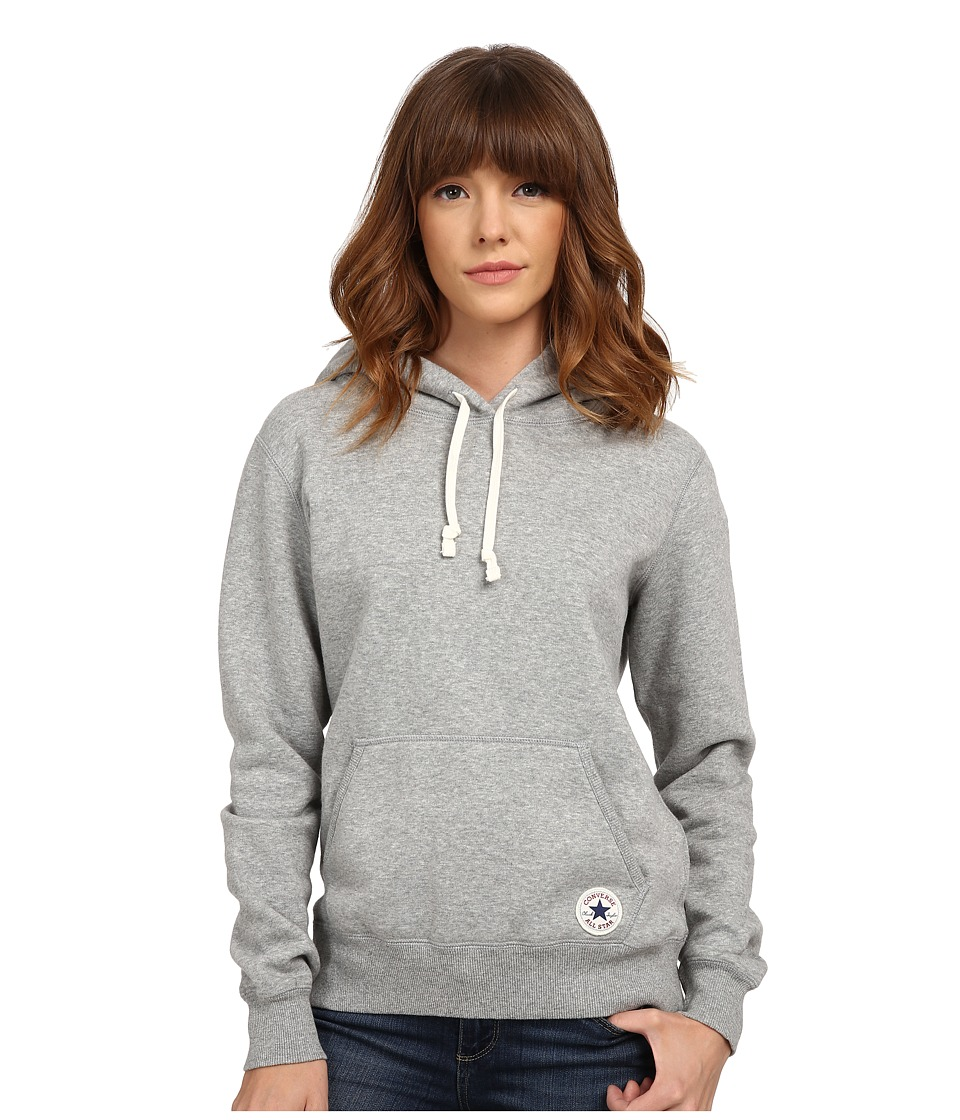 Converse - Core Popover Hoodie (Grey Heather) Women's Sweatshirt
