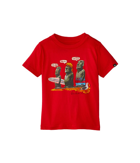 Quiksilver Kids - Easter Island (Toddler) (Quik Red) Boy's T Shirt