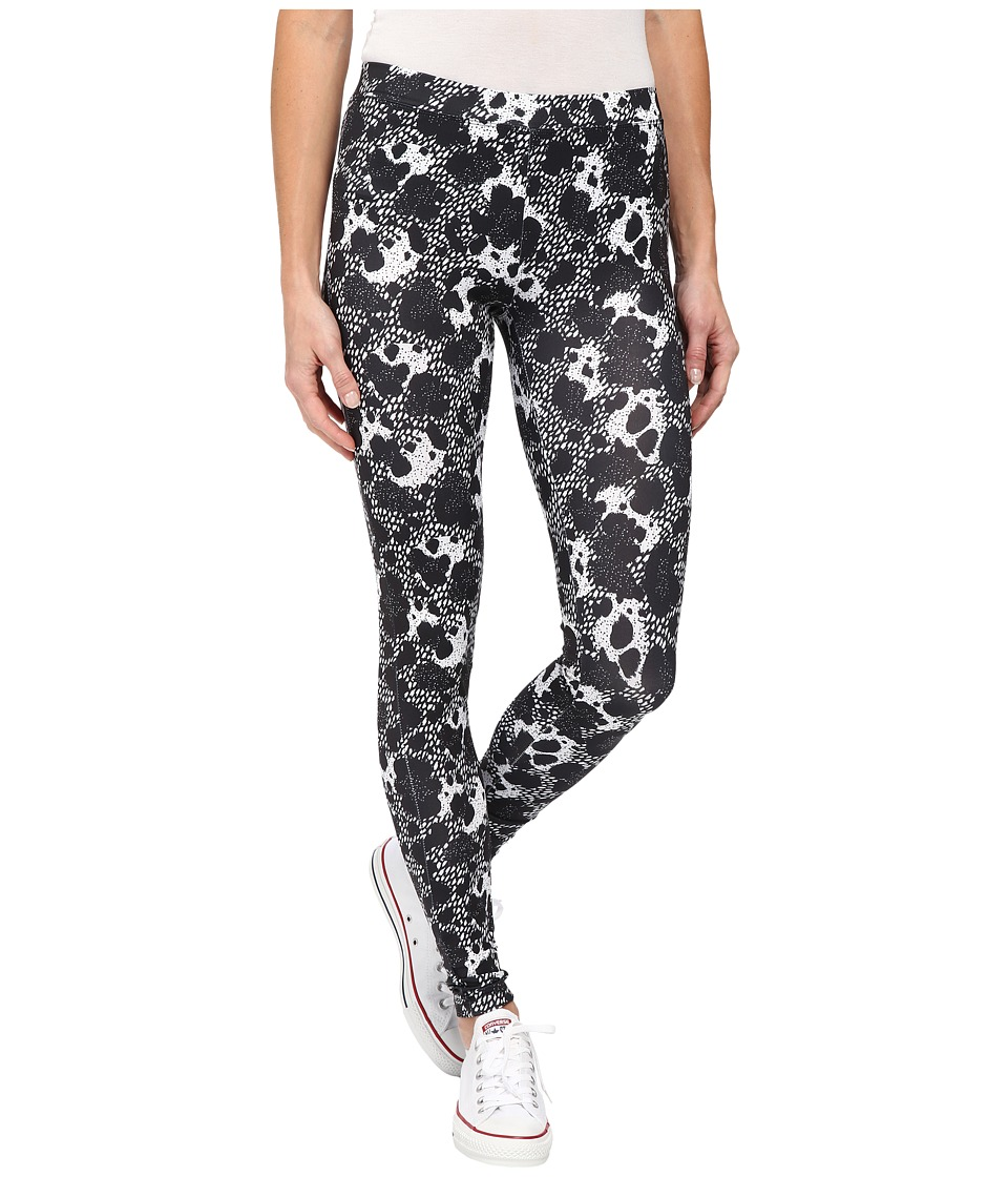 Converse - Global Fit Printed Knit Leggings (Black/White Print) Women
