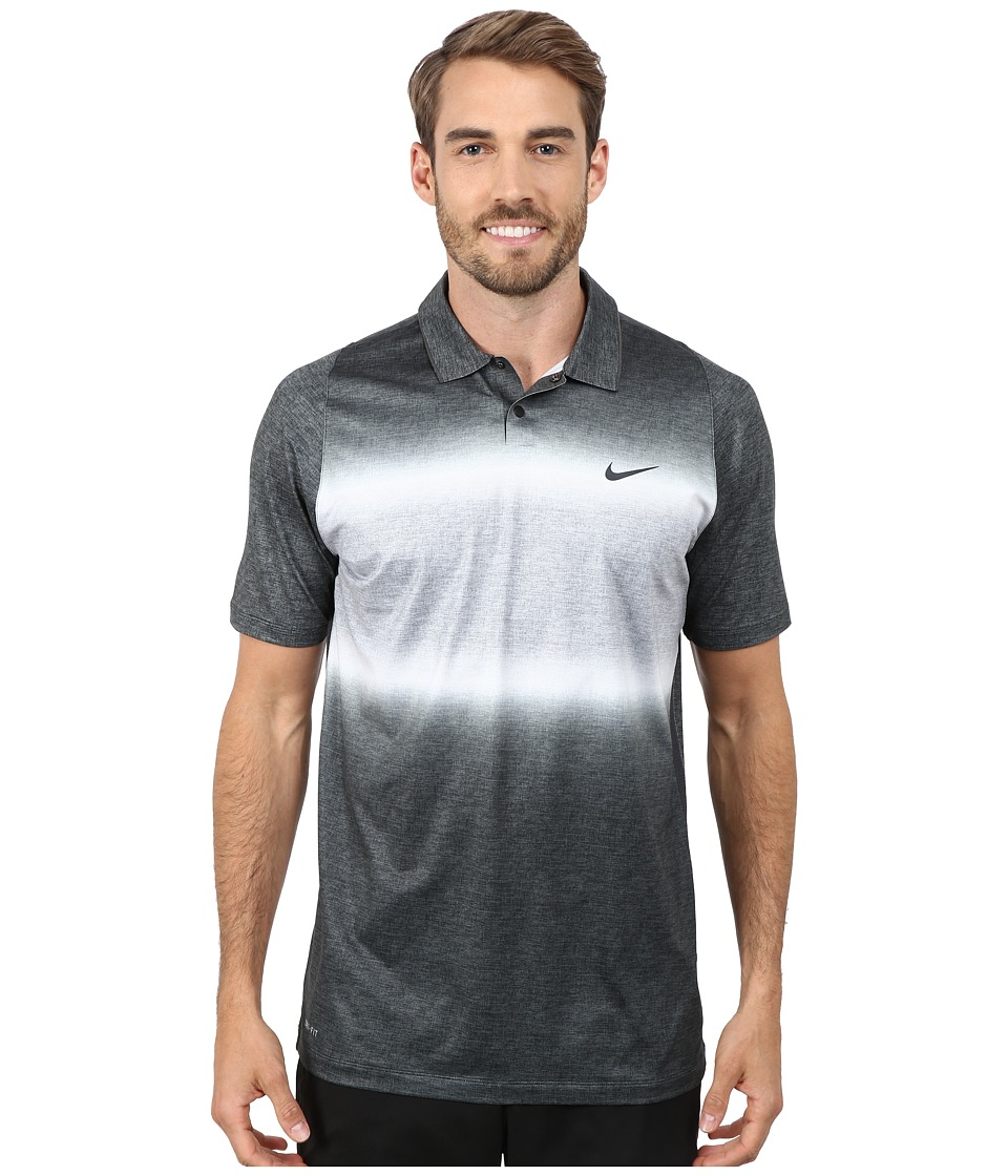 Nike Golf - Tiger Woods Velocity Glow Stripe Polo Shirt (Black/Cool Grey/Anthracite/Reflective Black) Men's Short Sleeve Pullover